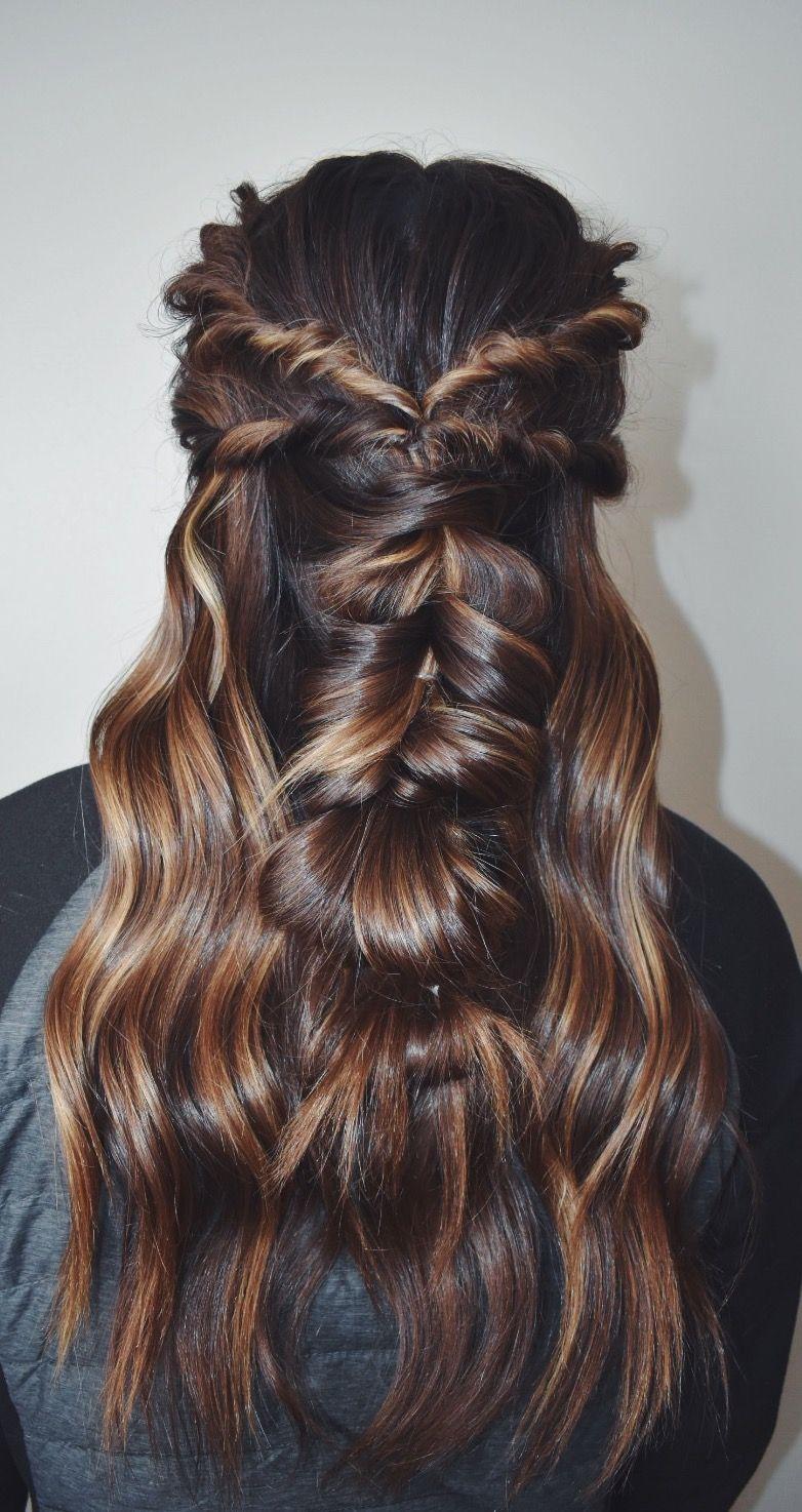 boho prom hair pull- braid