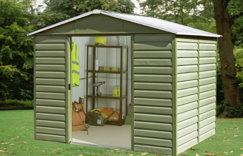 Large Garden Shed 10 x 12Ft Storage Tall Metal Roof