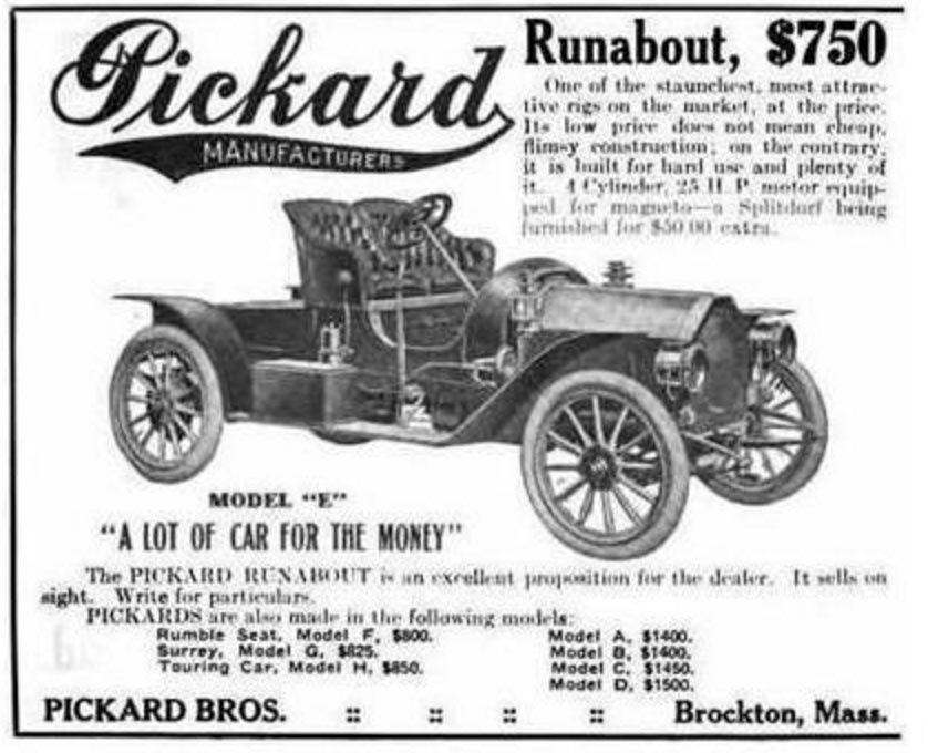 1910 Pickard Car ads, Antique cars, Motor car
