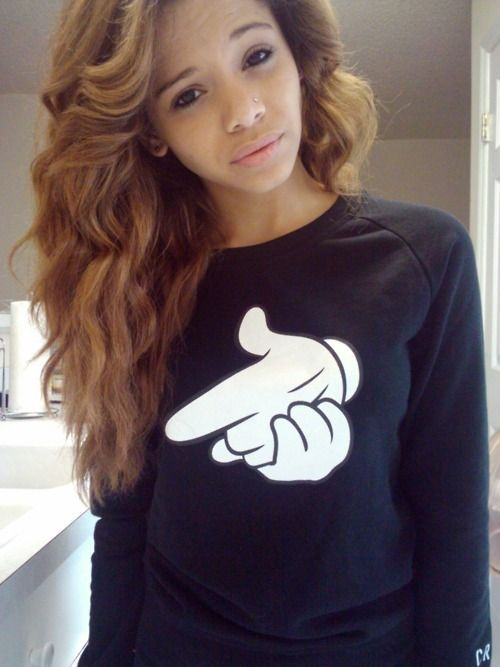 Cute Mixed Girls With Swag And Curly Hair Www Pixshark