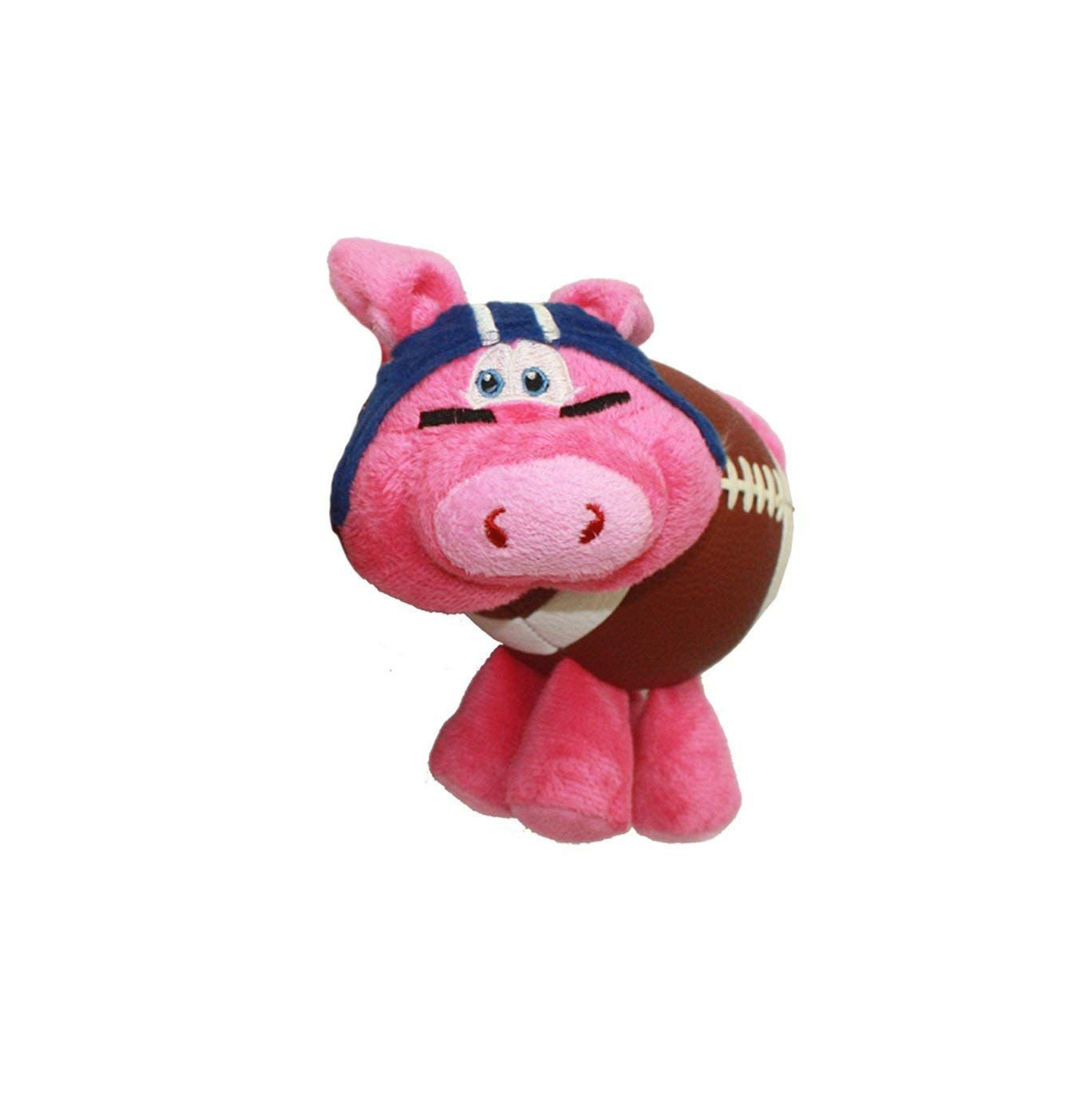 Multipet Pig Skins Plush Football Dog Toy 8 Colors Vary Read
