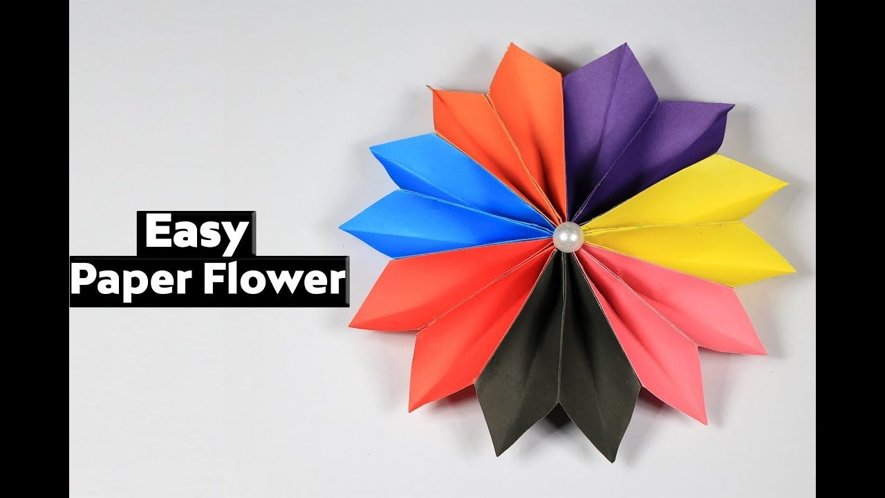 How To Make Easy Flower With Color Paper Paper Flower Making Diy
