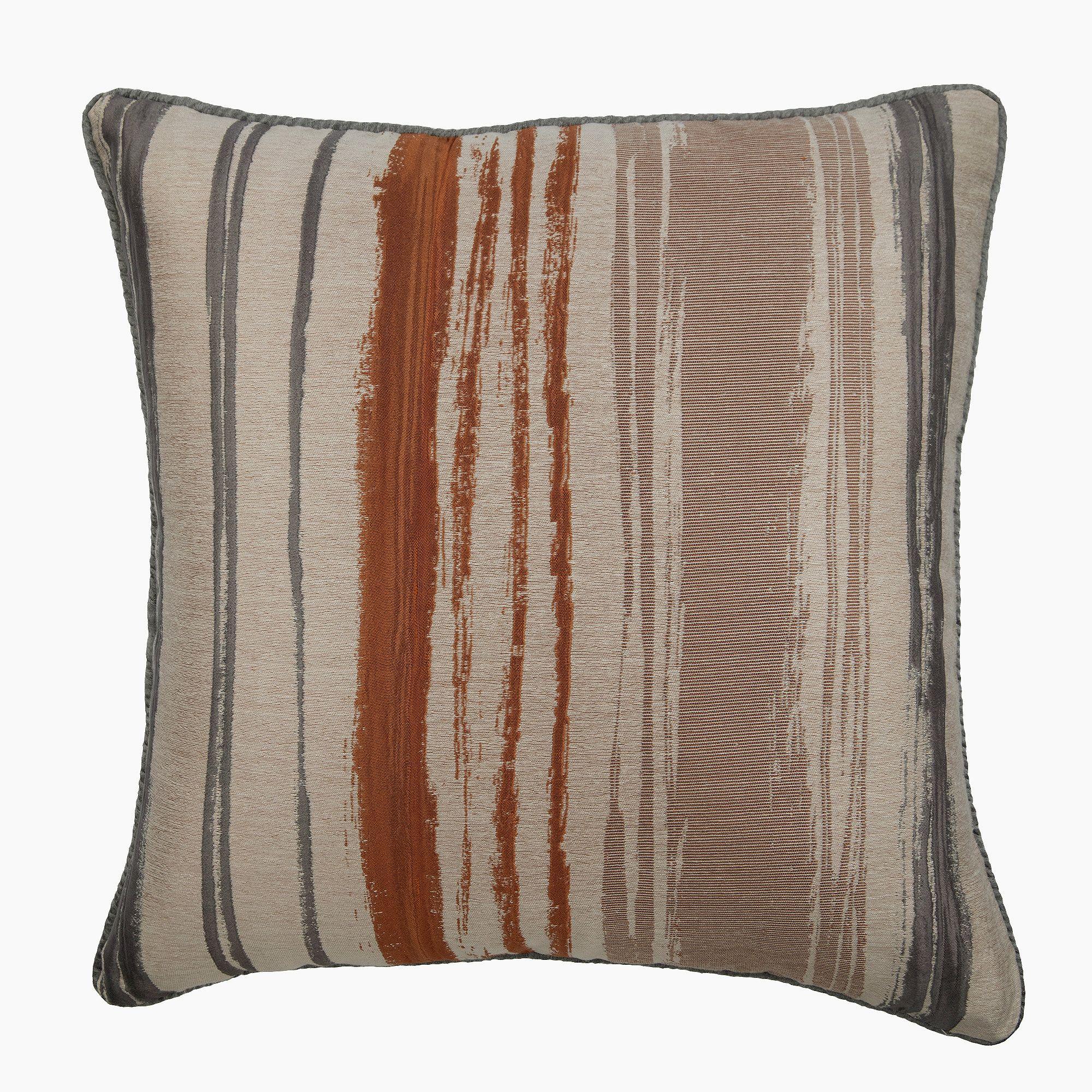 Jacquard Silk Rust Orange Pillow Cases Vintage 16 X16 Luxury