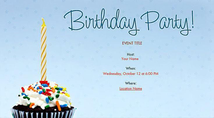 You Can Send These Great Looking Online Birthday Invitations For