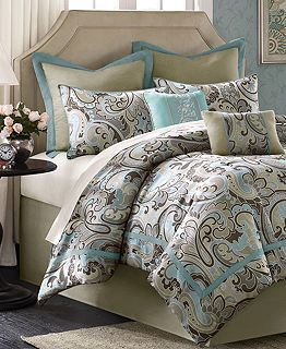 Turquoise And Brown Bedding Bed In A Bag At Macy S