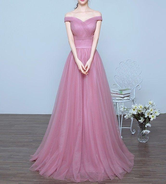 Vintage Tulle Prom Dresses Long