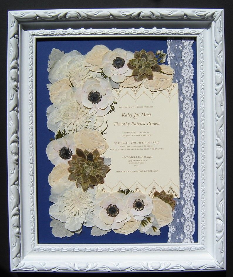 Pressed Wedding Flowers: Preserved By Pressed