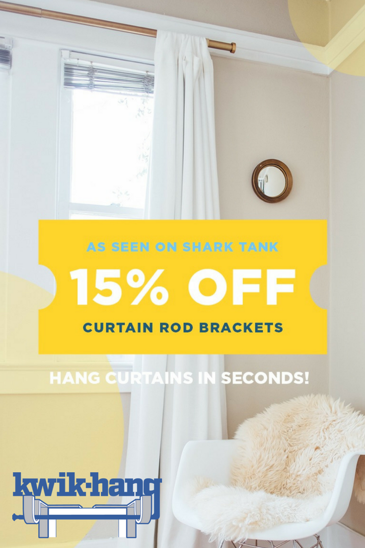 Our Curtain Rod Brackets Are Already As Easy As It Gets But These Holiday Discounts Make It Even Easier 15 Off On All Of Our Amazing Brackets Curtain Rod