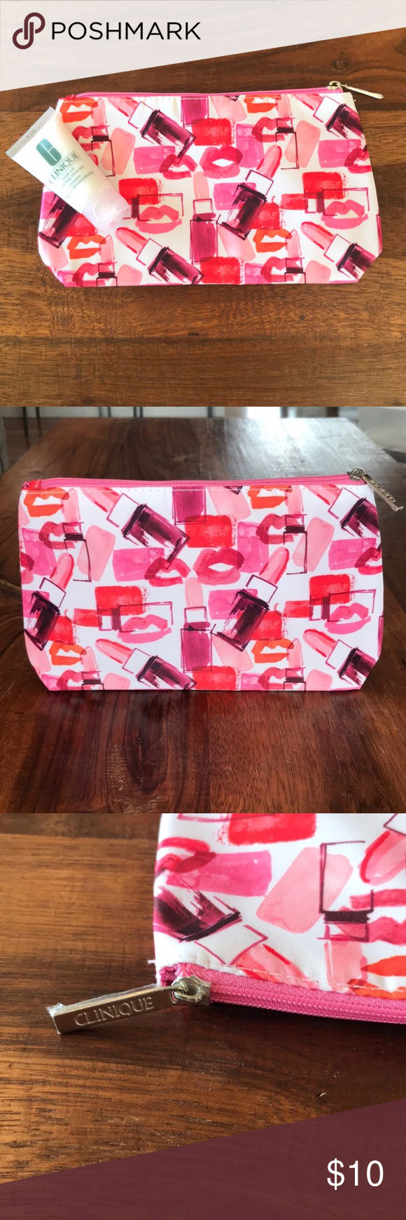 NEW Clinique Makeup Bag + FREE Cleanser NWOT Brand new