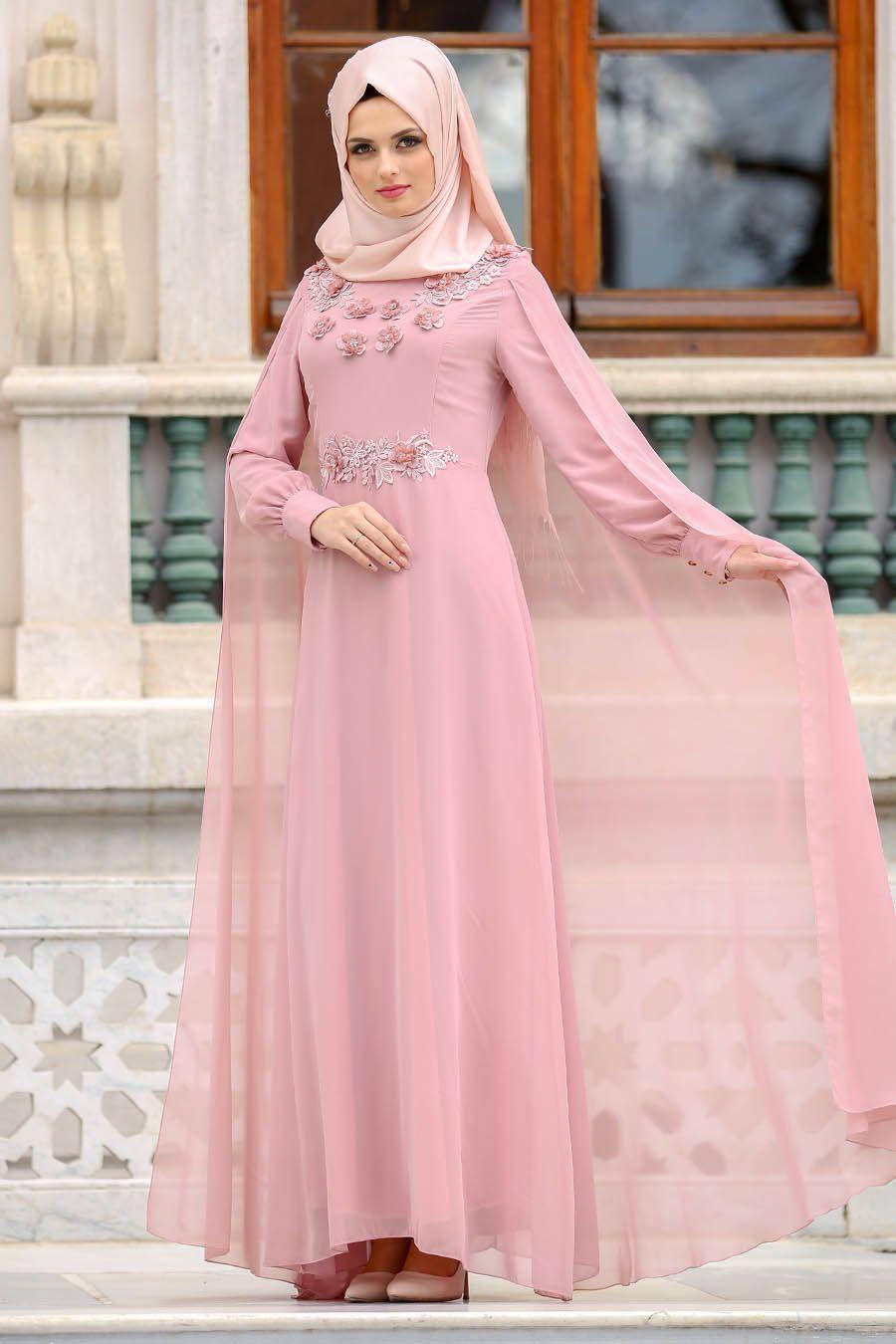 e9a4b271c2e25 2018 Neva Style Şık Tesettür Abiye Elbise Modelleri - Moda Tesettür Giyim