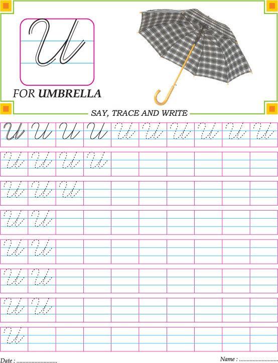 Printables Cursive Capital Words For Kinder Garden cursive capital letter d practice worksheet handwriting u worksheet