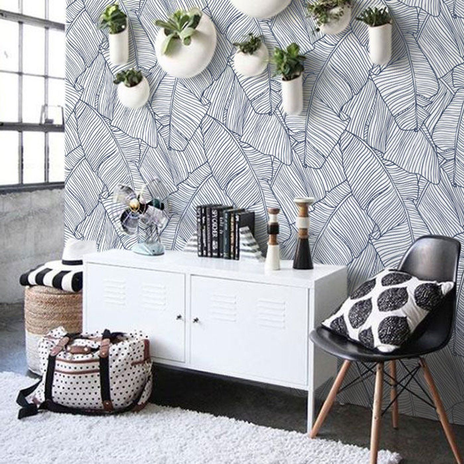 Removable Wallpaper, Peel and stick wallpaper, leaf