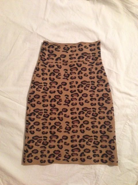 BCBG Leopard Print Power Skirt - Stale French Fries  4bd49e7c21de5