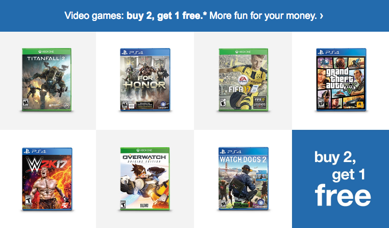 Buy 2 Get 1 Free Video Games At Target With Images Free Video