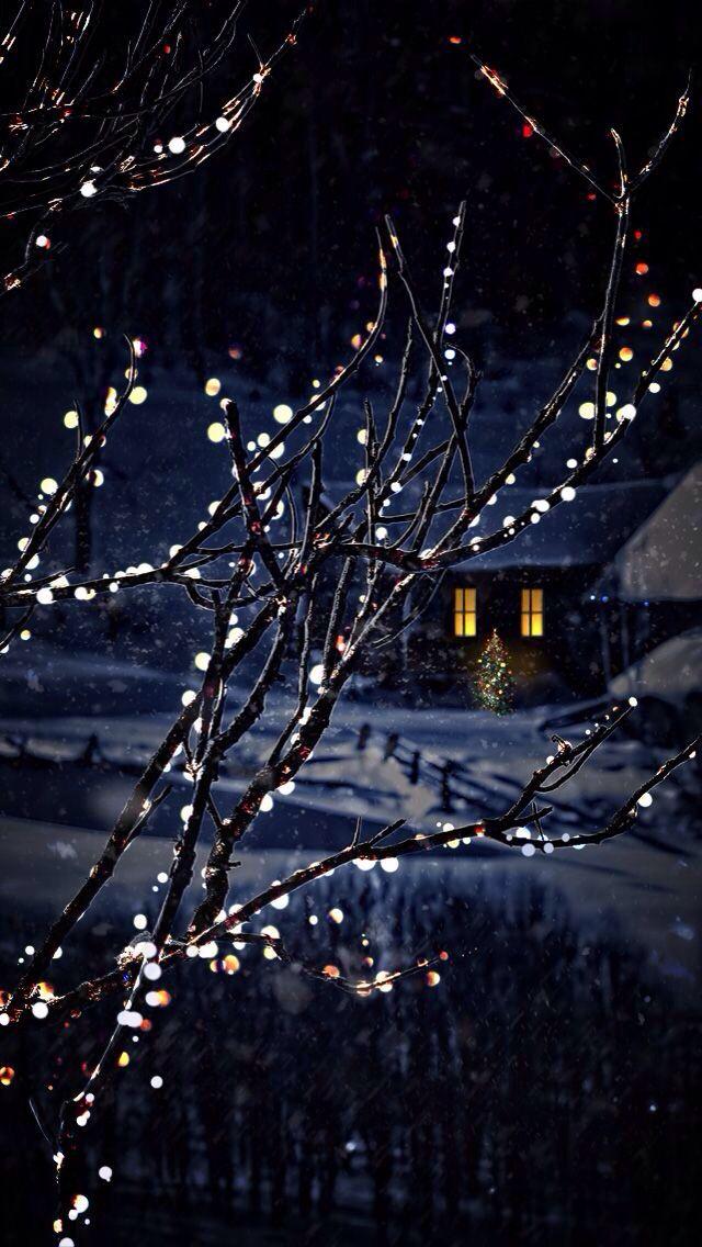 Winter Snow Cabin Fonovye Izobrazheniya Oboi Illyustracii