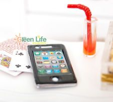 1:6 DOLLHOUSE Miniature mini Mobile Phone Cellphone metal black for barbie decor
