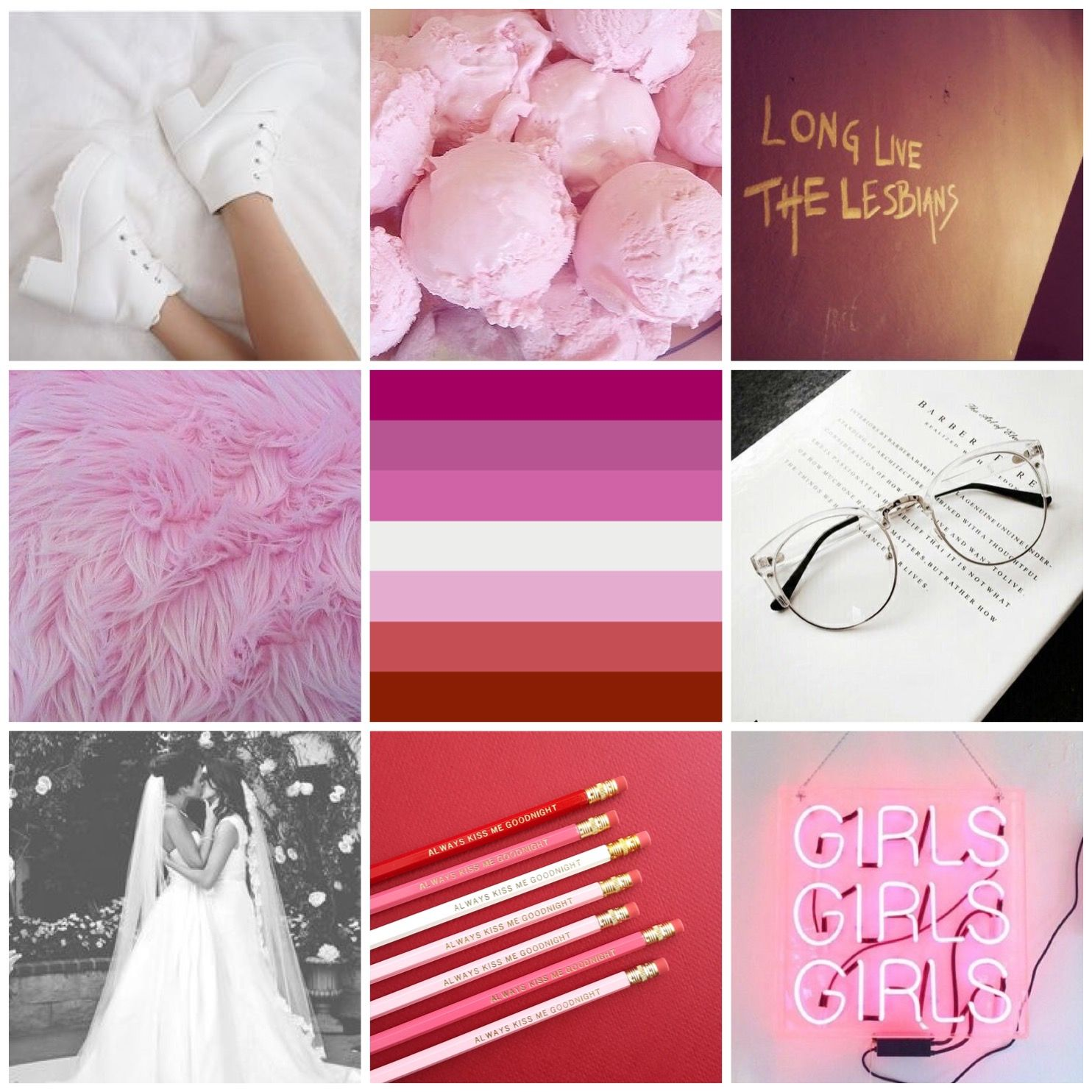 Lgbt aesthetics and moodboards questioning lesbian moodboard for anon