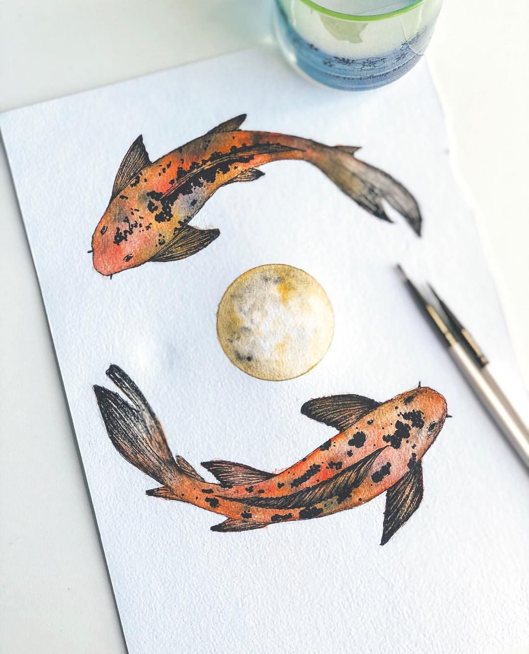 Art Artist Fish Watercolor Color Colour Painting Paint