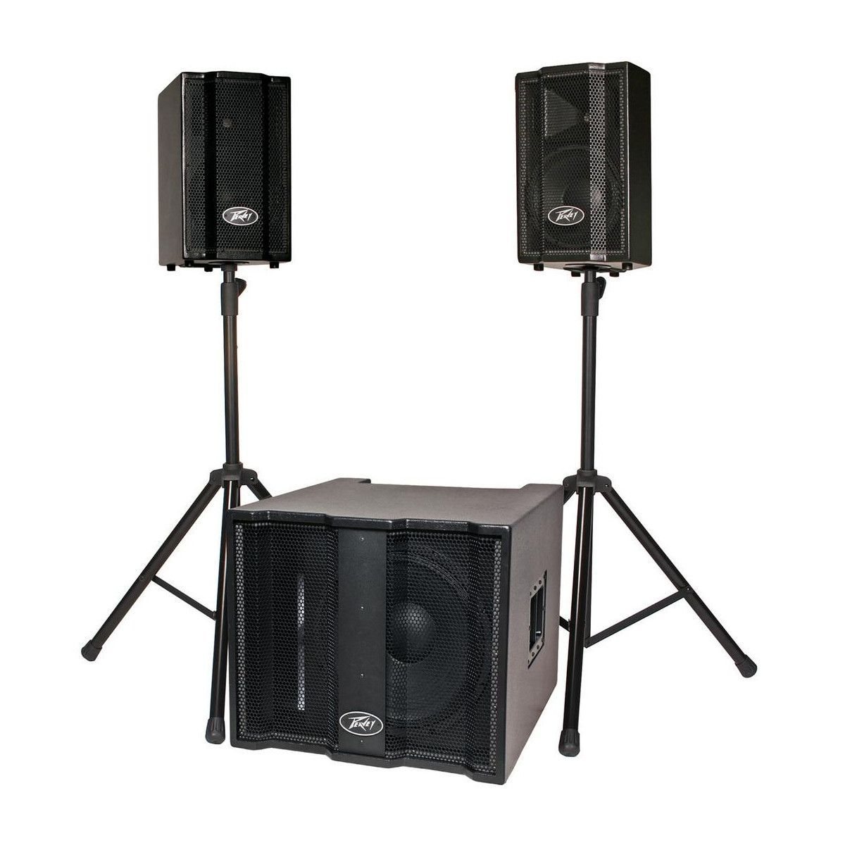 peavey triflex ii portable pa system with 2 satellite speakers 1x15 subwoofer cables cover. Black Bedroom Furniture Sets. Home Design Ideas