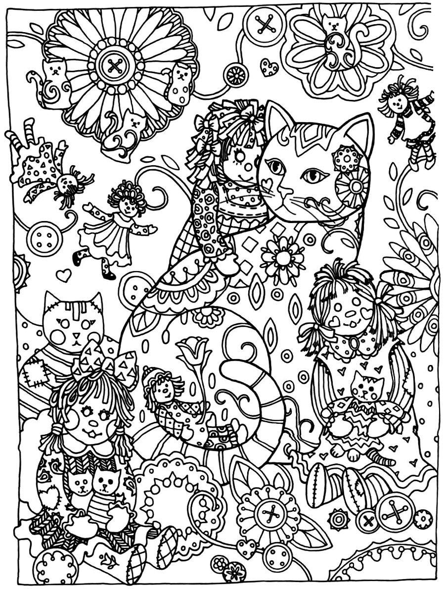 Pin Van Soraya Molina Op Cbook Creative Cats Mandala Kleurplaten Kleurboek Kleurplaten