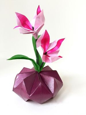 Origami ikebana small origami flower arrangements pinterest origami ikebana mightylinksfo
