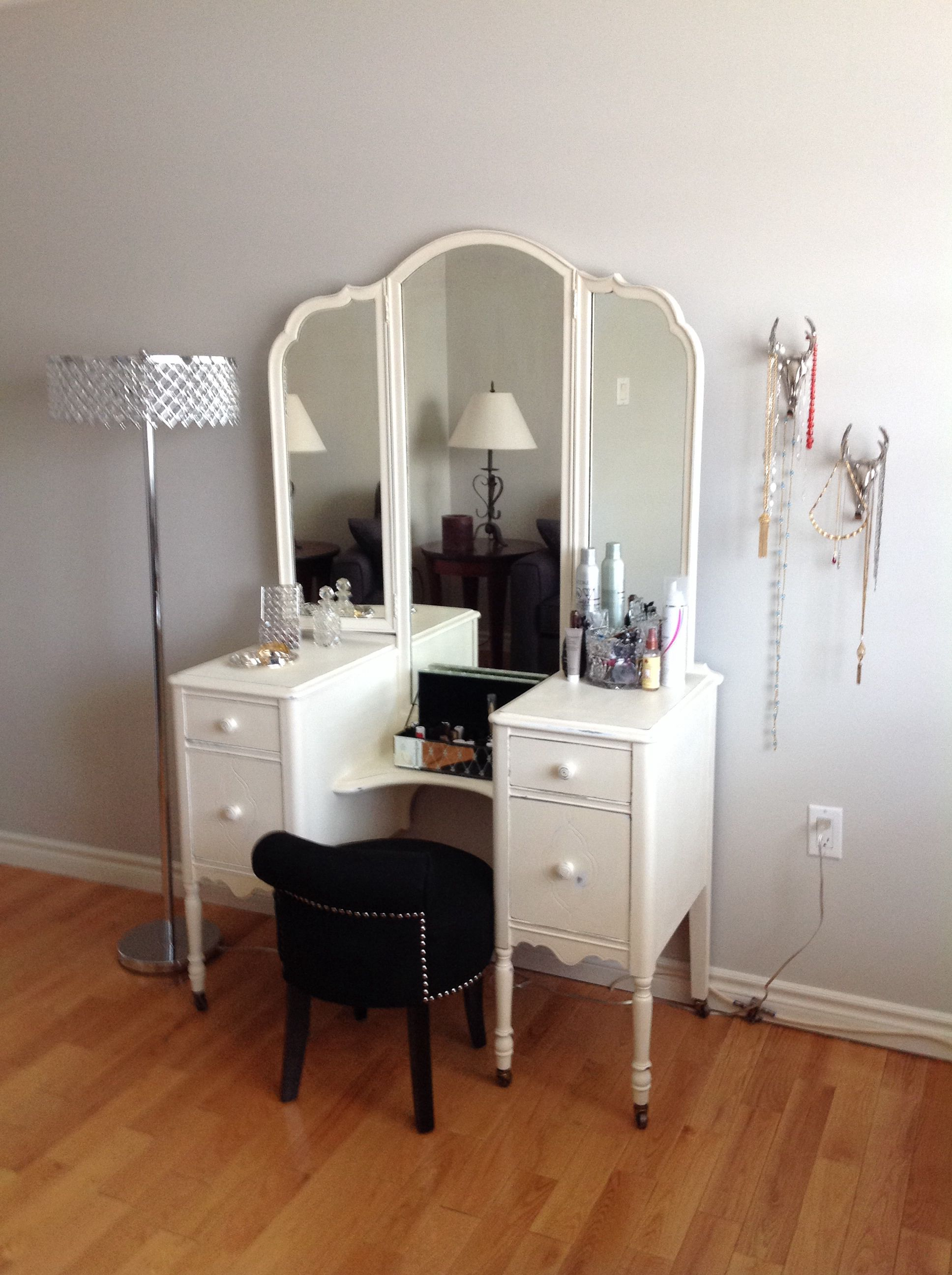 Antique Refinished Vanity | Refinished vanity, Home, Home ...