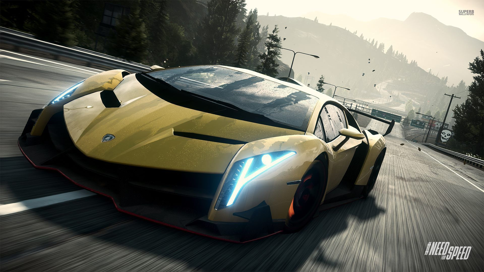 Need For Speed Rivals Hd Wallpapers Hintergrunde Lamborghini Veneno
