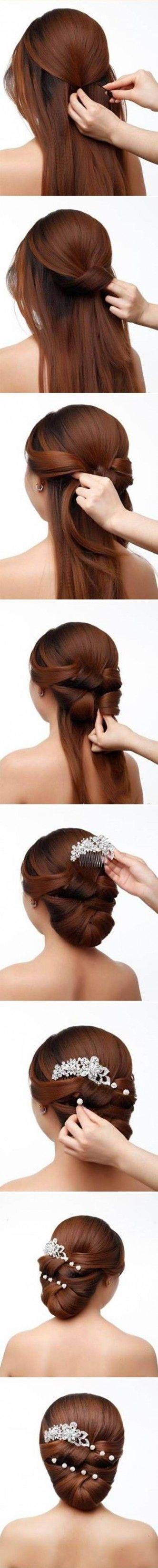 DIY Elegant Bridal Hairstyle hairdos Pinterest Hair styles