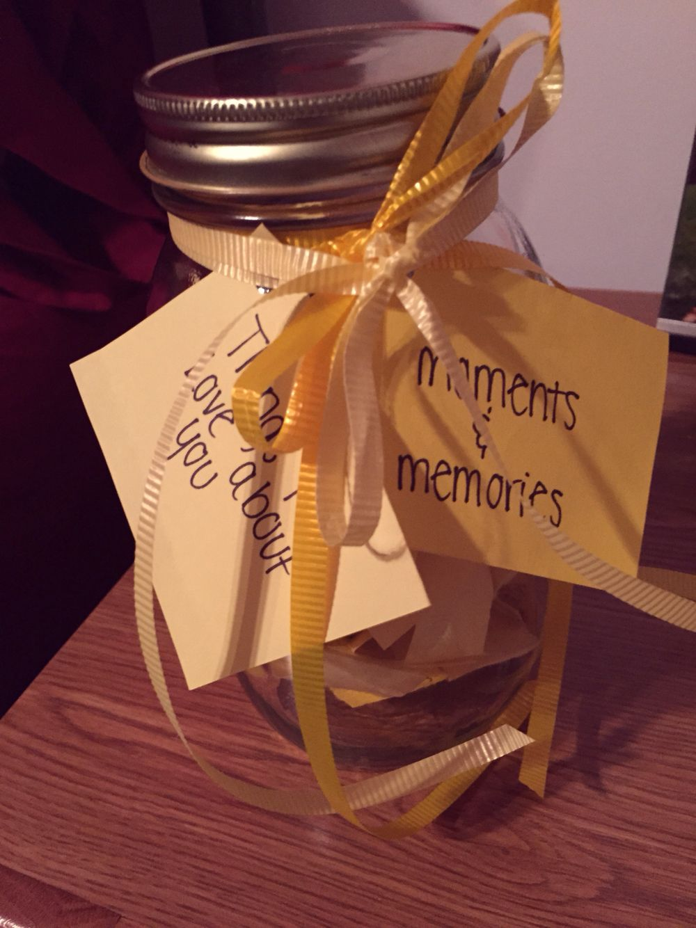 Homemade anniversary gift! Homemade anniversary gifts