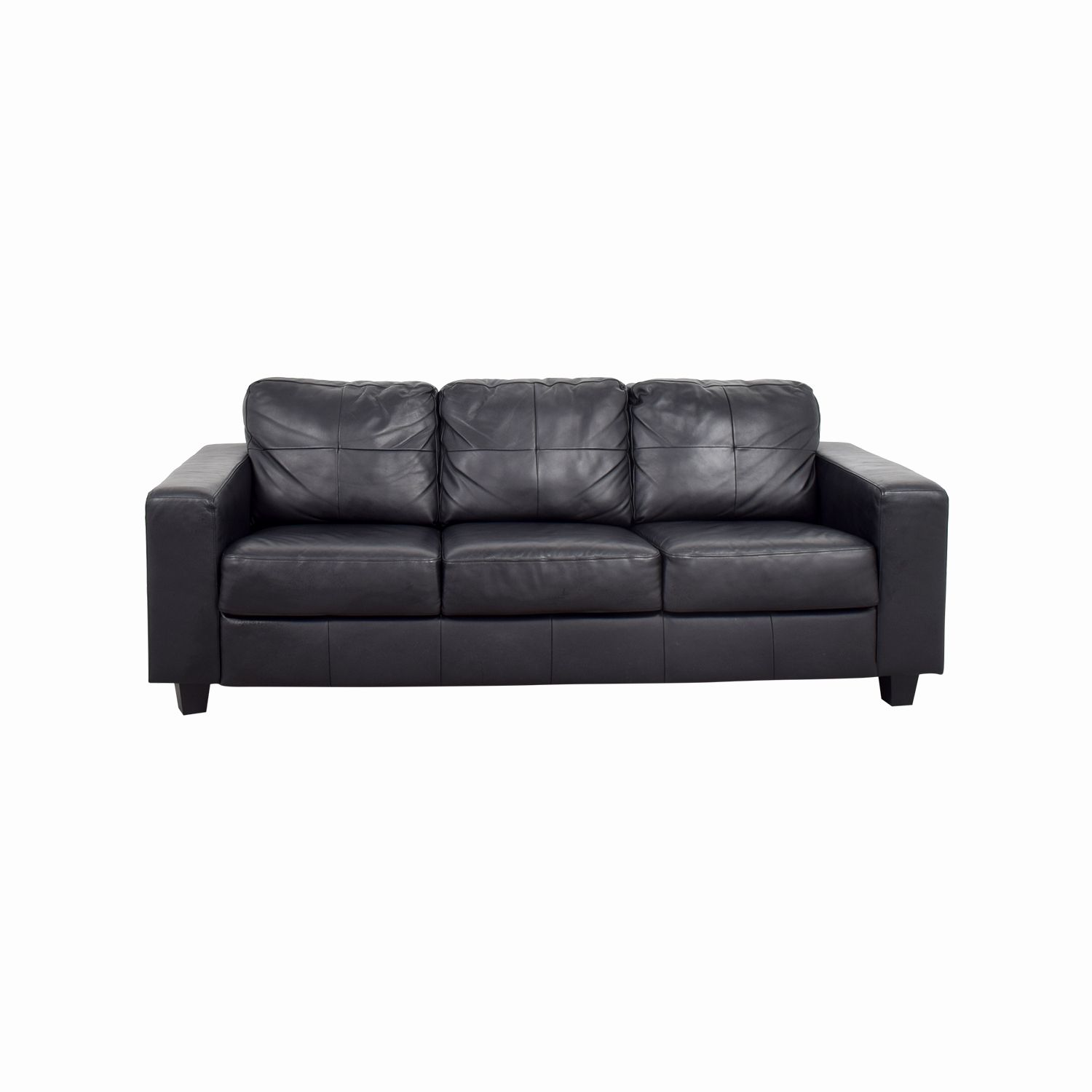 Beautiful Ikea Sofa Leather Pictures 44 Off Ikea Ikea Skogaby Black Leather Sofa Sofas Black Leather Couch Faux Leather Couch Ikea Sofa