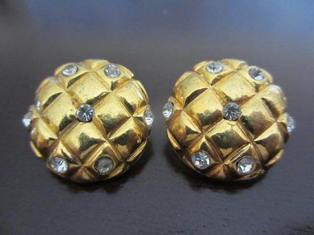 Vintage #Jewelry Authentic CHANEL Vintage CC earrings (checker