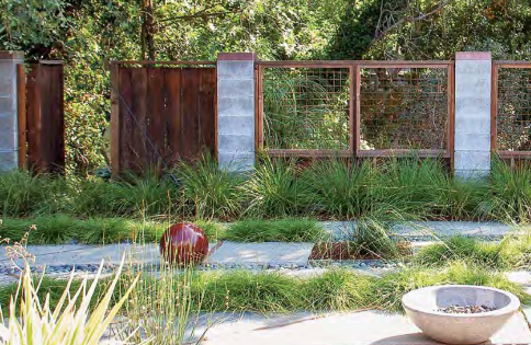 This 7 Ft High Fence Is Made Of A Series Of Concrete Block Piers And Wire Mesh Panels That Keep Animal Inspiration Wall Concrete Blocks Outdoor Furniture Sets