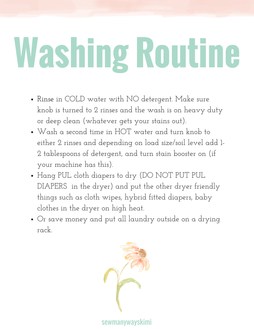Washing Routine Safe For Cloth Diapers And Baby Clothes Safe