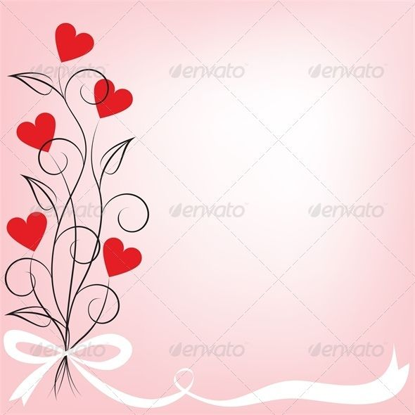 Valentine card with bouquet of flowers shaped heart. Vector illustration, fully editable, vector objects separated and grouped. Editable EPS 8 Vector illustrations. Icluded files: .EPS, .JPEG 4900*4900 px.
