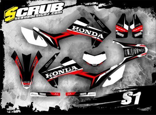 SCRUBDESIGNZHondagraphicsdecalsCRfLStickersMX - Decal graphics for dirt bikes