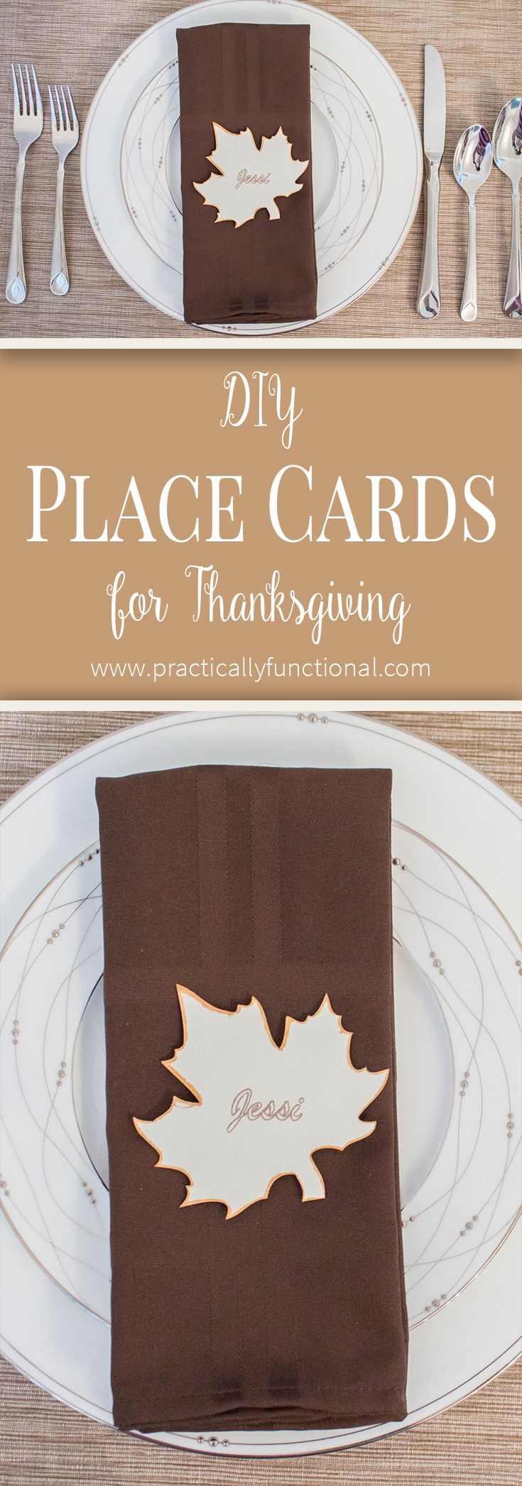 Simple Thanksgiving Place Cards {+ printable} – Practically Functional