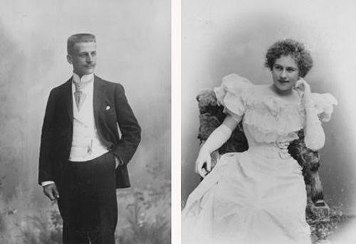 Nuoret Heikki Renvall ja Aino Ackté 1900-luvun alussa. Lähde: Kaarina Reenkolan yksityinen kuva-arkisto