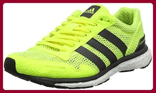 adidas Unisex-Erwachsene Adizero Adios Laufschuhe, Weiß (Footwear White/Silver Metallic/Solar Yellow), 36 2/3 EU