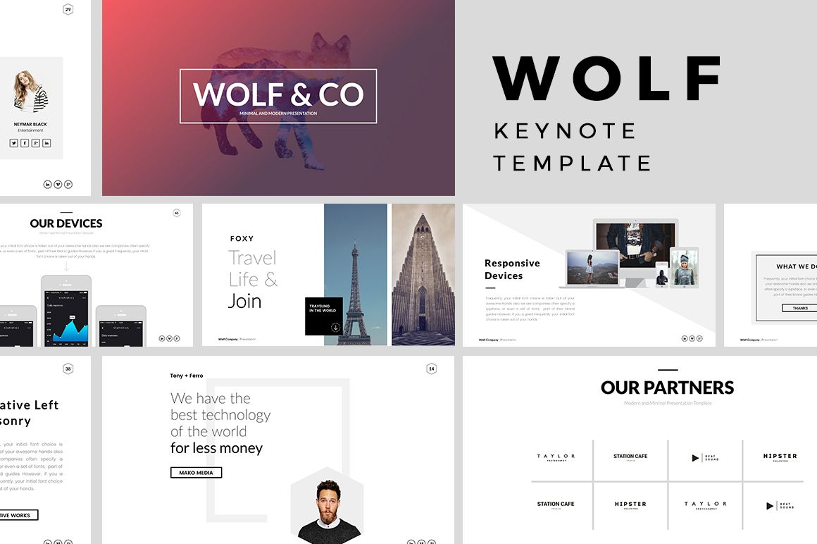 Wolf Minimal Keynote Template  Keynote Template And Presentation