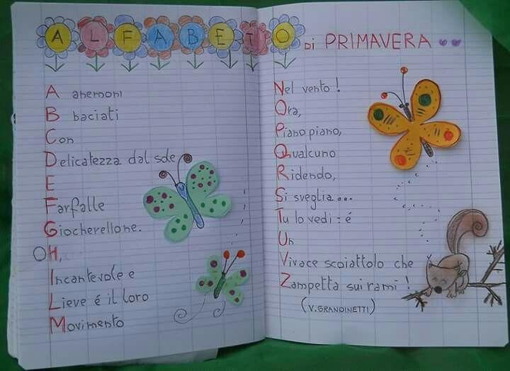 Alfabeto di primavera okuma yazma aula fichas ve maestros for Maestra carmelina classe seconda