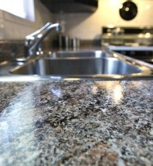 Painting Formica Countertops W/ Granite Paint.