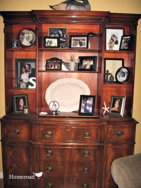 Repurposing A China Cabinet Into The Perfect Tv Stand Dining Room Decor Elegant