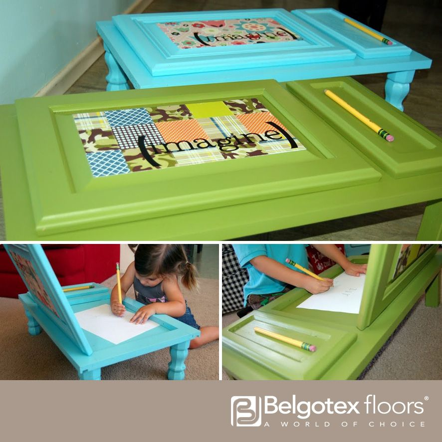 These kiddy drawing tables are just so cute and easy to make. Find the tutorial here: http://www.u-createcrafts.com/creative-guest-icandy-handmade/