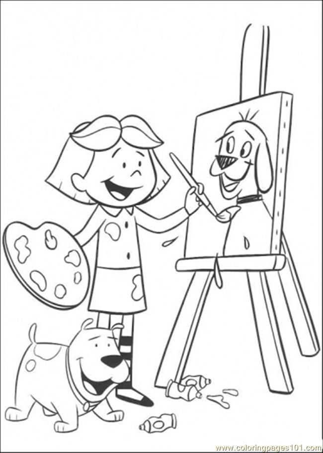 painting clifford printable coloring page clifford coloring pages ...