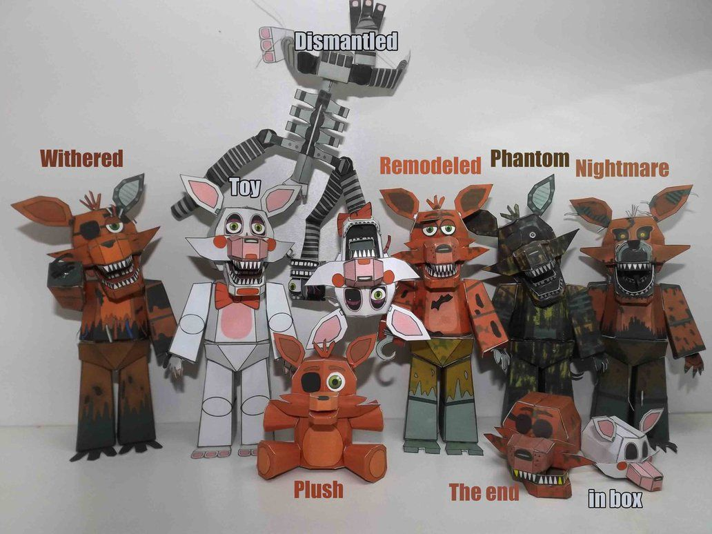 How to make your own five nights at freddys foxy plush - Five Nights At Freddy S Foxy Timeline Papercraft By Adogopaper Deviantart Com On Deviantart