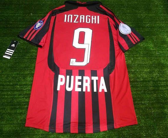 e240deb9da6 Classic Match Worn Soccer Jersey Football Shirts INZAGHI 9 ...