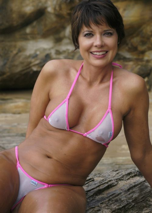 adult woman in a bikini