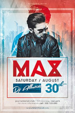 Dj Max Minimal Party Psd Flyer Template  Free Flyer Templates