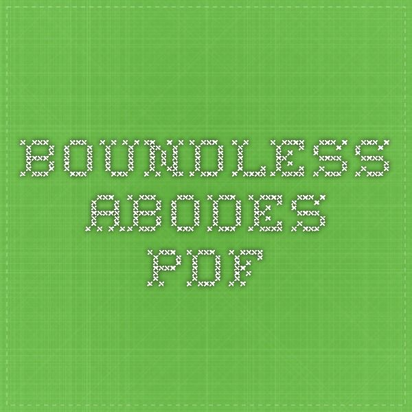 Boundless Abodes PDF
