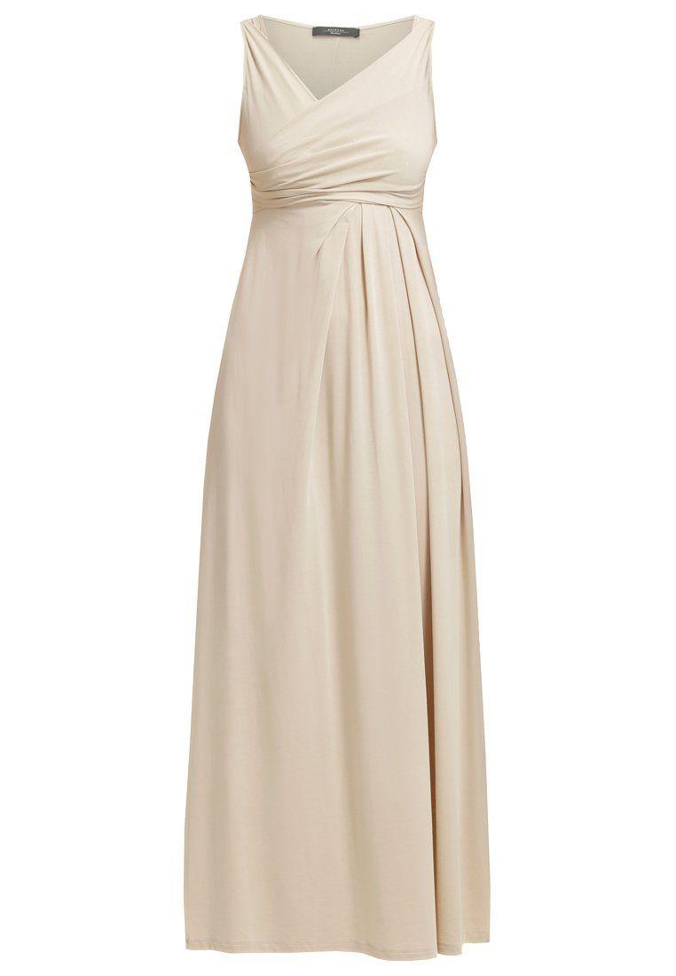 4a332a1927 WEEKEND MaxMara MELINDA Długa sukienka beige
